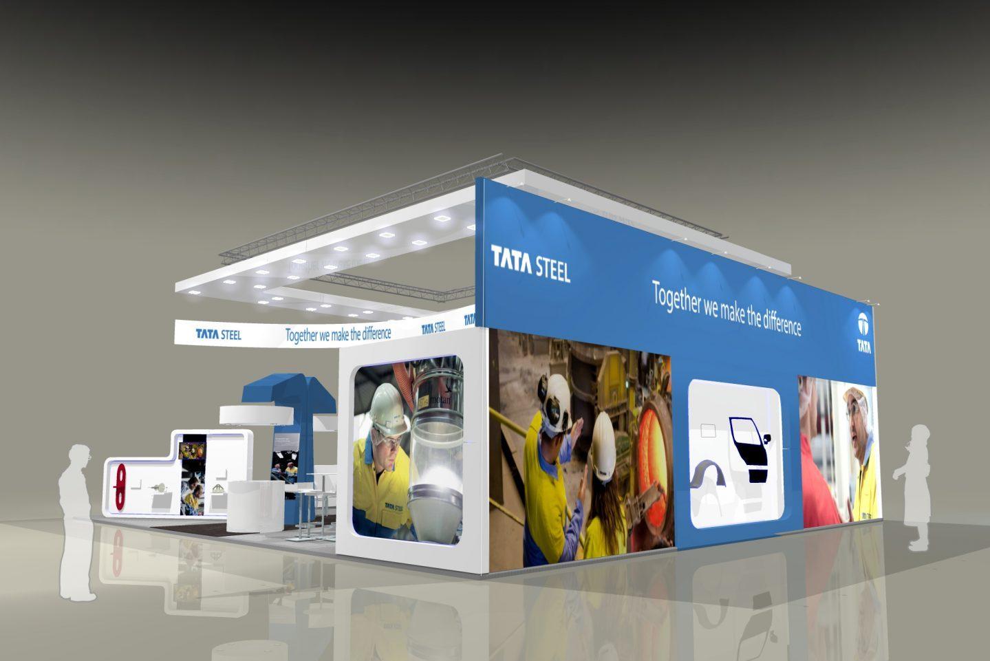 Exhibition Display Design & Installation - Tata Steel